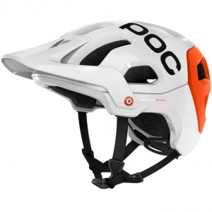 Kask Rowerowy POC - Tectal Race Hydrogen White / Iron Orange XL-XXL: 59-62cm