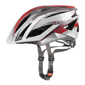 Kask rowerowy Uvex Ultrasonic Silver Red R:  (55-58cm)